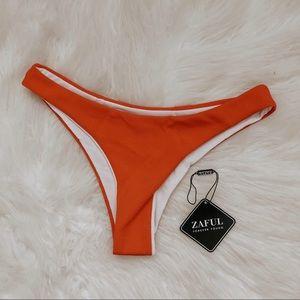 NWT Red Cheeky Ribbed Bikini Swim Bottoms
